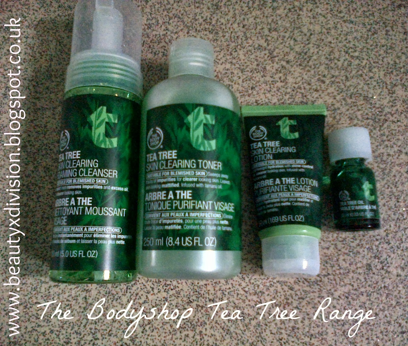 The Bodyshop Tea Tree Range