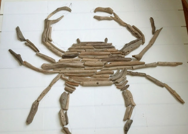 how to make a crab out of driftwood
