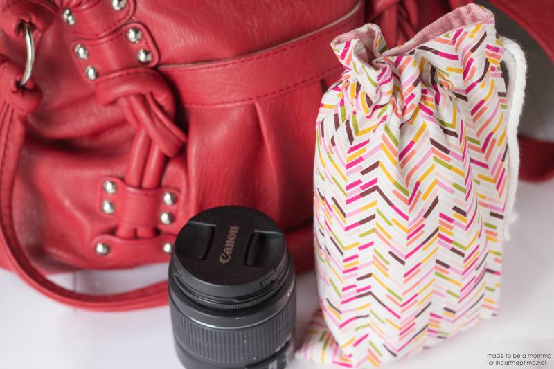 DIY - 7 Ideias de presentes para sua melhor amiga: Estojo para guardar lentes de câmeras