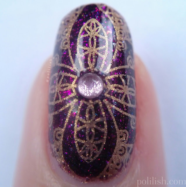 Ornate nail art close up macro