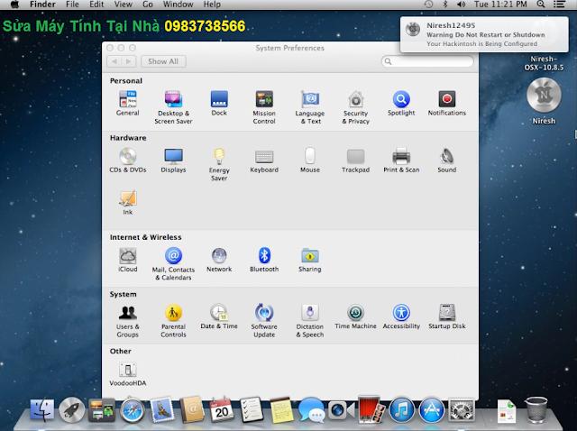 Giao diện hệ điều hành Mac OS X