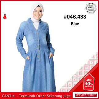 MNF412D128 Dress Muslim Wanita 046 433 Muslim Denim 2019 BMGShop