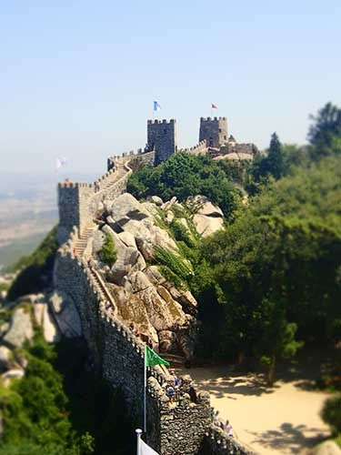Castle of the Moors Sintra, Portugal.