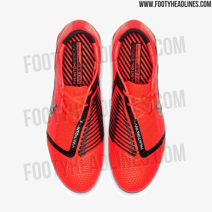 17caca733a14 1 of 2. 2 of 2. On the instep of the orange Nike Phantom Venom soccer cleats  ...