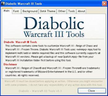 diabolic warcraft 3 tools