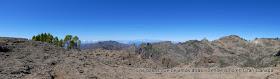 Panorámica con El Teide y el Roque Nublo