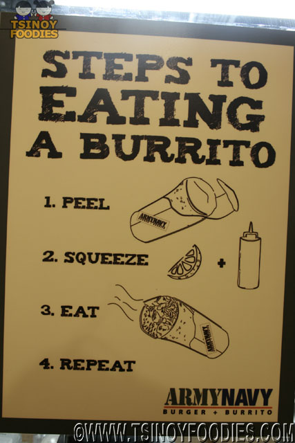 how to eat burrito infographic
