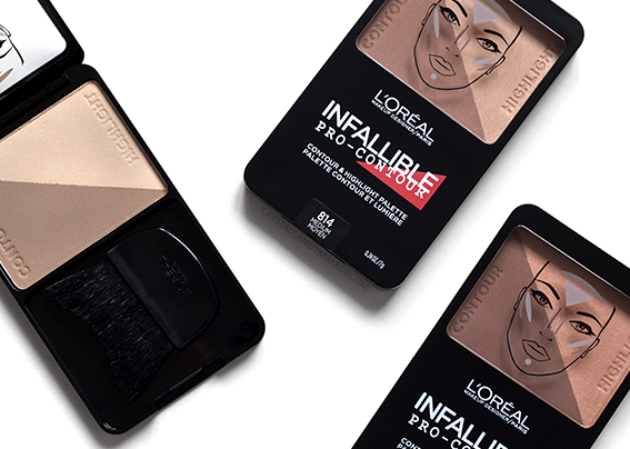 L'Oréal Paris Infallible Pro-Contour Palettes 813 814 815 Comparisons Review Photos Brush