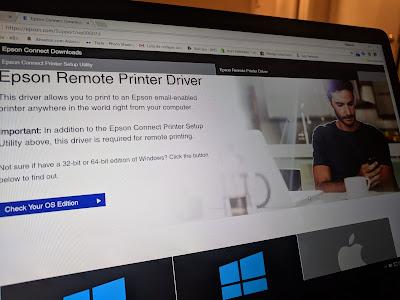 página web epson para descargar drivers de internet