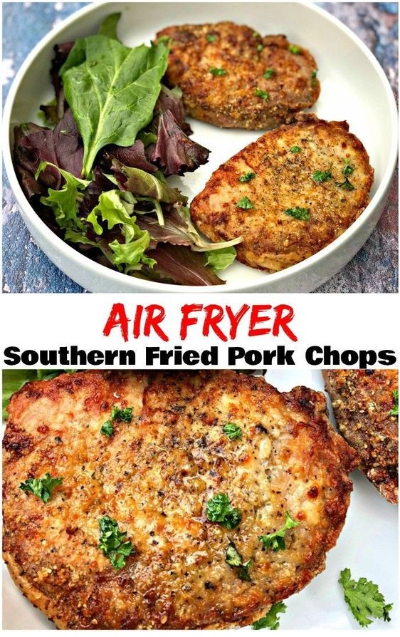 Air Fryer Fried Pork Chops Southern Style