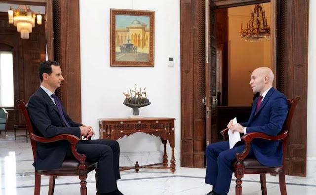 الرئيس الاسد:سنحرر كل جزء من سورية وعلى الأمريكيين أن يغادروا وسيغادرون.المقابلة مع قناة RT كاملة (فيديو)