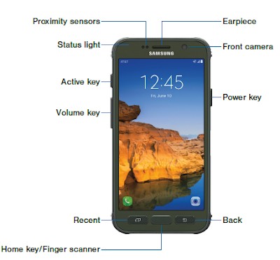Samsung Galaxy S7 active - Front