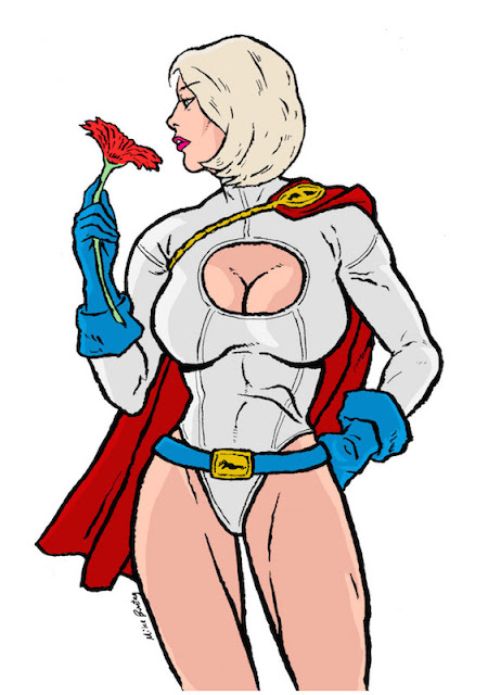 Power Girl with Flower