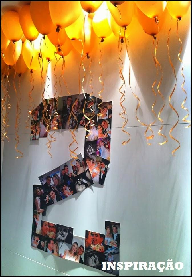 fotos na parede 2 anos de casados