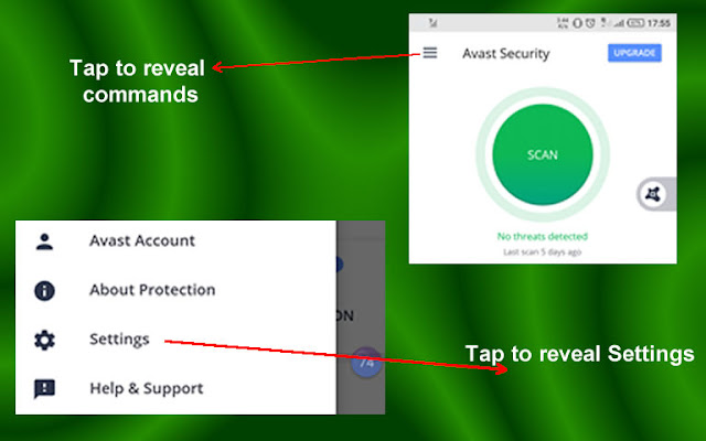 Scan apps with Avast