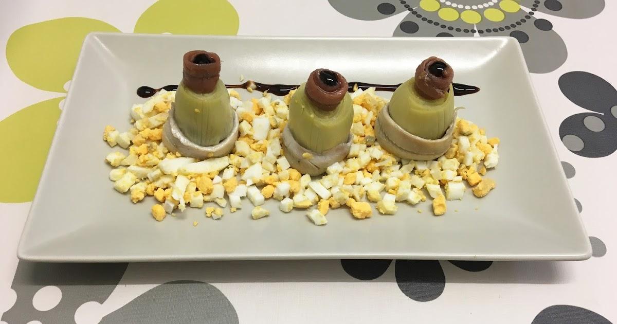 Recetas para cocinillas alcachofas con boquerones - Calorias boquerones en vinagre ...