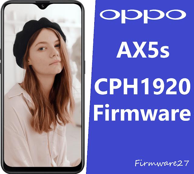 Firmware Oppo AX5s CPH1920 Mediatek ofp file