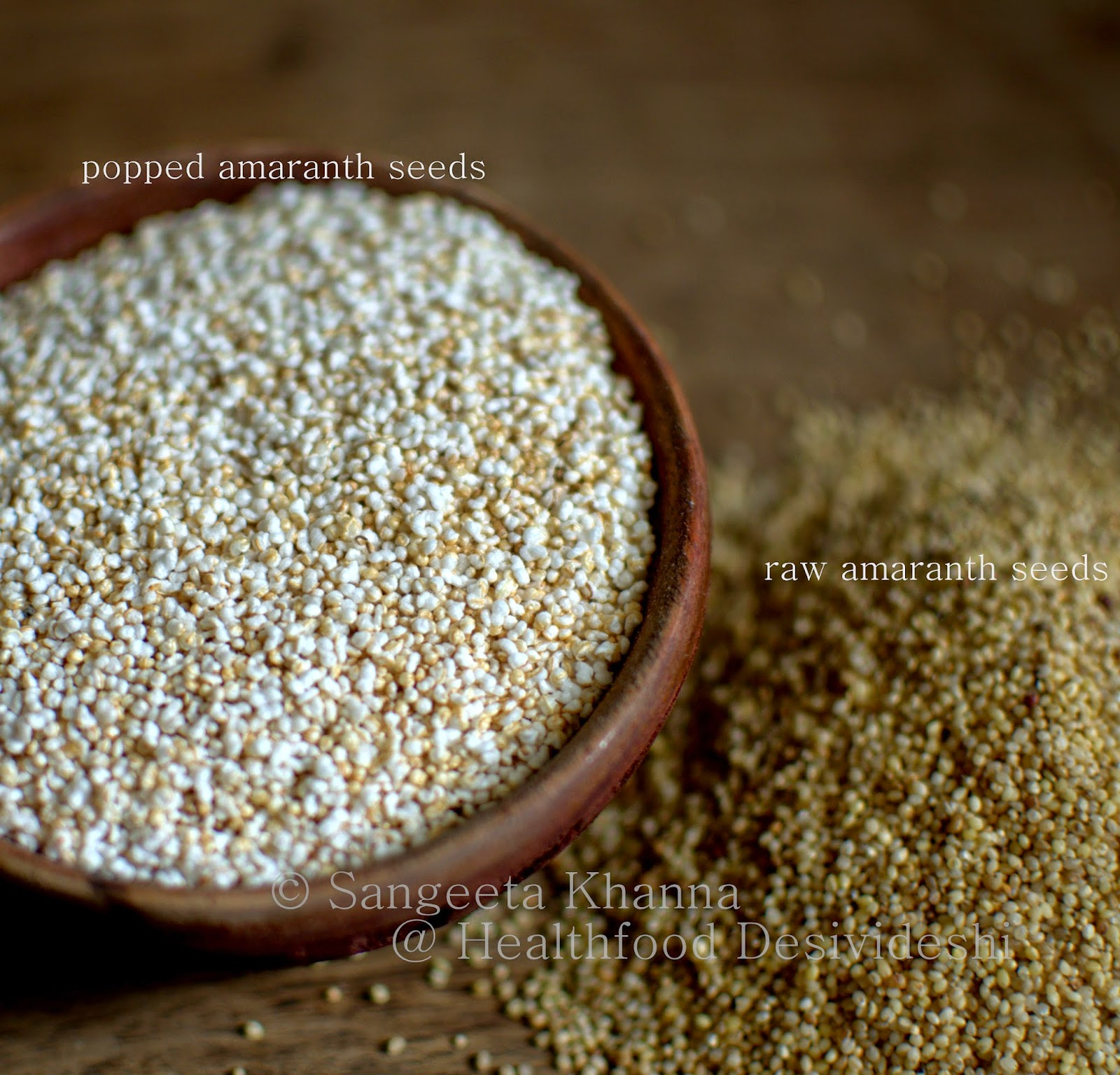 popped amaranth seeds, fruit and nut parfait : a perfect ...