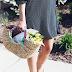 weekend dress // wicker bag