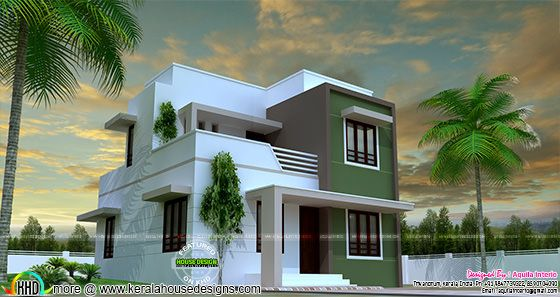 1150 sq-ft simple beautiful flat roof house