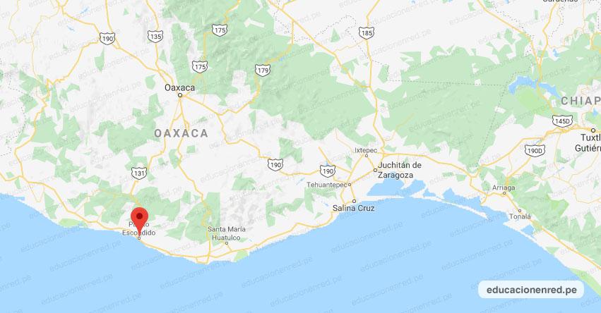 Temblor en México de Magnitud 4.1 (Hoy Martes 21 Abril 2020) Sismo - Epicentro - Puerto Escondido - Oaxaca - OAX. - SSN - www.ssn.unam.mx