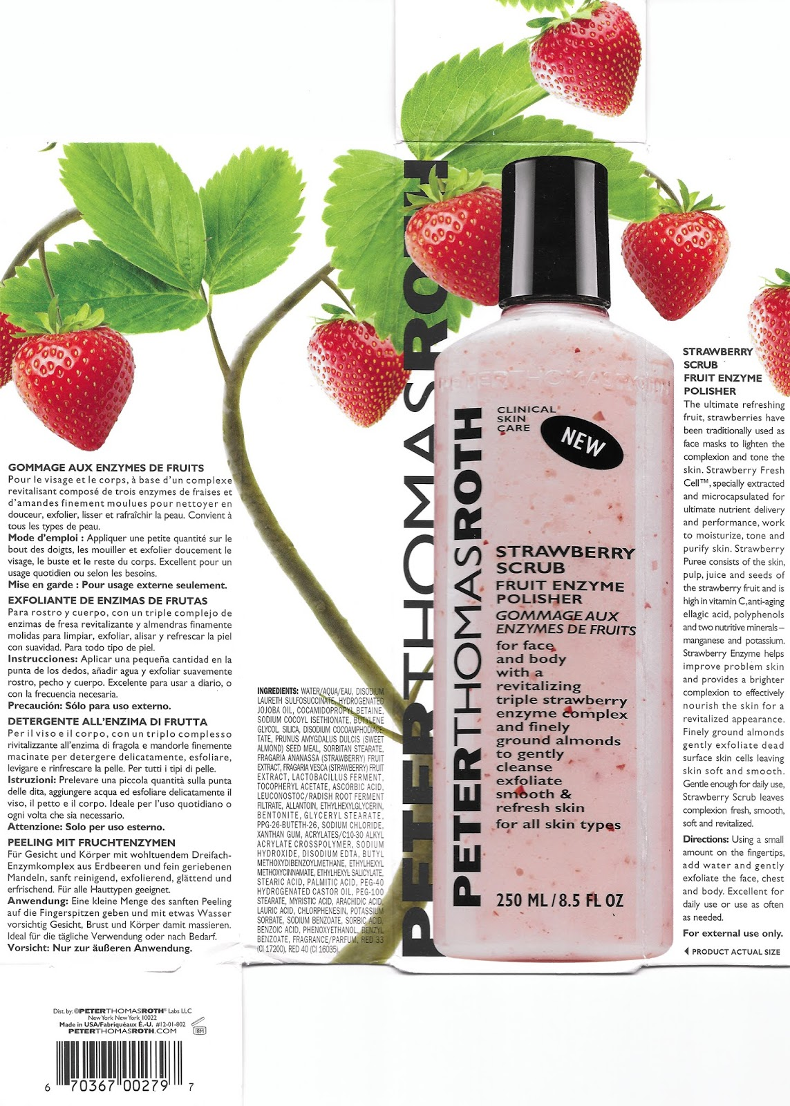 lavlilacs Peter Thomas Roth Strawberry Scrub Fruit Enzyme Polisher packaging ingredients description