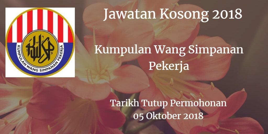Jawatan Kosong KWSP 05 Oktober 2018