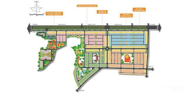 Sơ đồ phân lô tổng quan dự án Cát Tường Phú Hưng