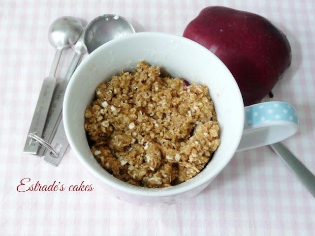 receta de crumble de manzanas al microondas 3