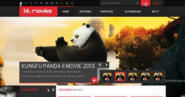 BT Movies v1.0 JReview responsive template for Joomla