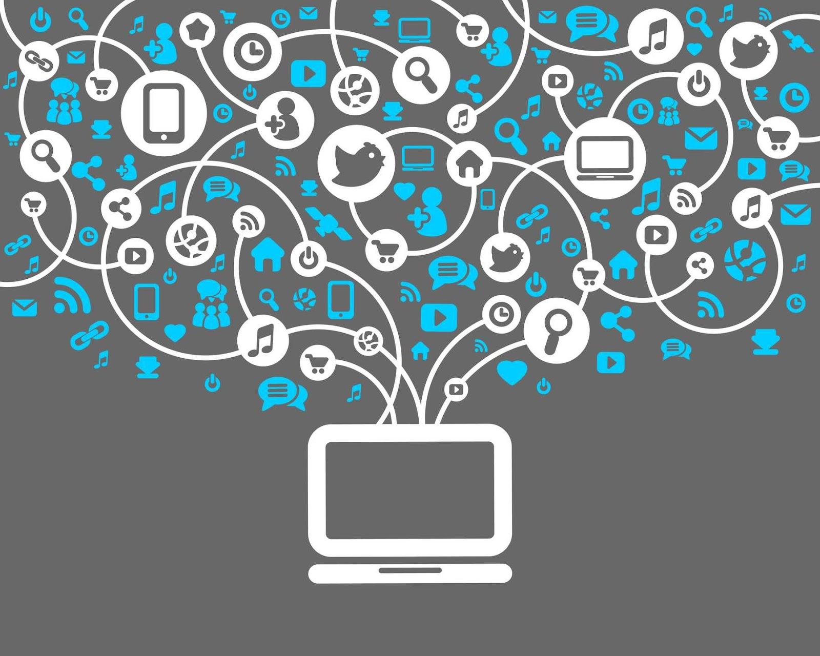 Blogger İçin Flat Sosyal Medya Butonları