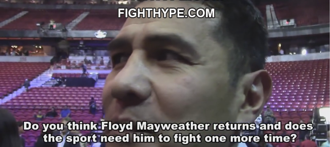 Marco Antonio Barrera Reacts To Floyd Mayweather Watching Pacquiao-Vargas (VIDEO)