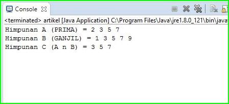 Program Java - Menghitung Himpunan Bilangan Prima Dan Ganjil