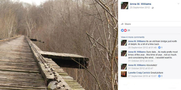 Eerie photo of bridge where Indiana girls were murdered posted four years ago by tragic Mum