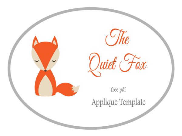 Free applique template the quiet fox u indie crafts