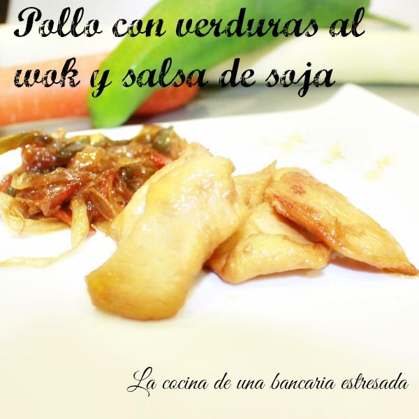 Receta de pollo con verduras al wok y salsa de soja
