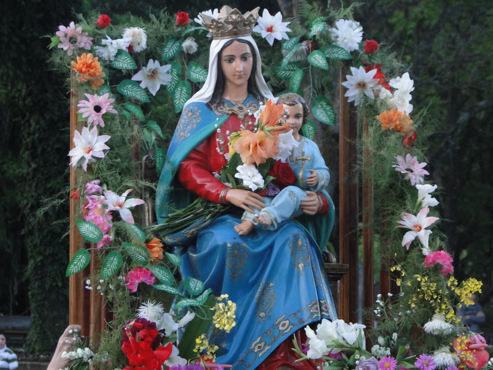 Nossa Senhora Da Saude: Paróquia Santíssima Trindade Nova Palma: Visita Da Imagem