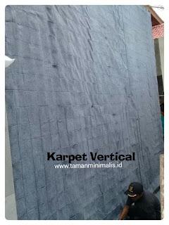 Bahan karpet pembuatan vertical garden