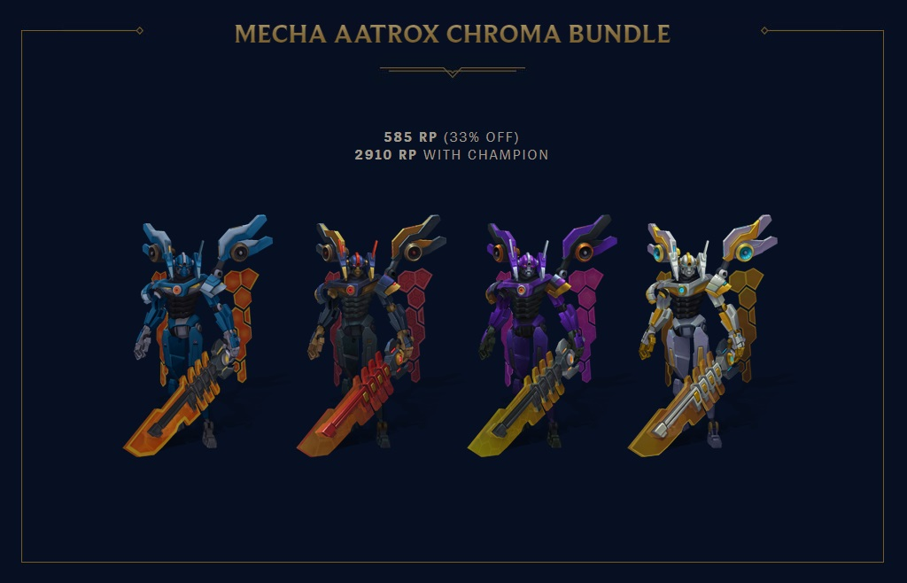 surrender at 20  mecha rengar  u0026 new chroma now available
