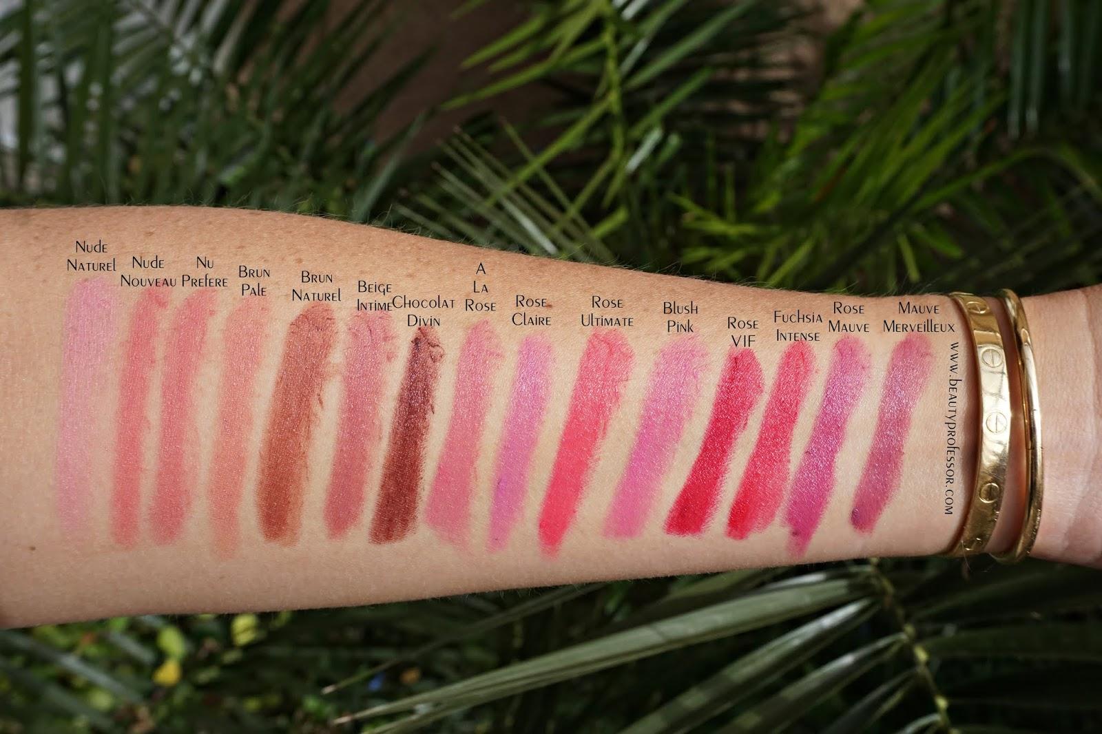 Laura mercier rouge essentiel lipstick swatches