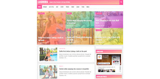 Lashira blogger template