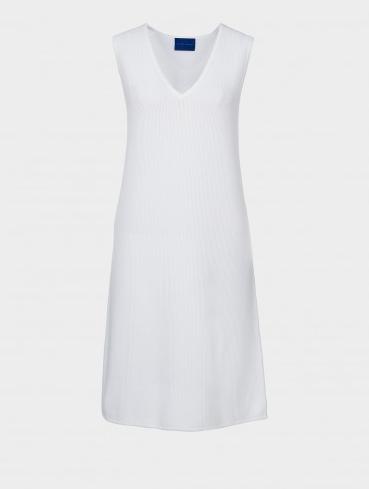 white classic dress