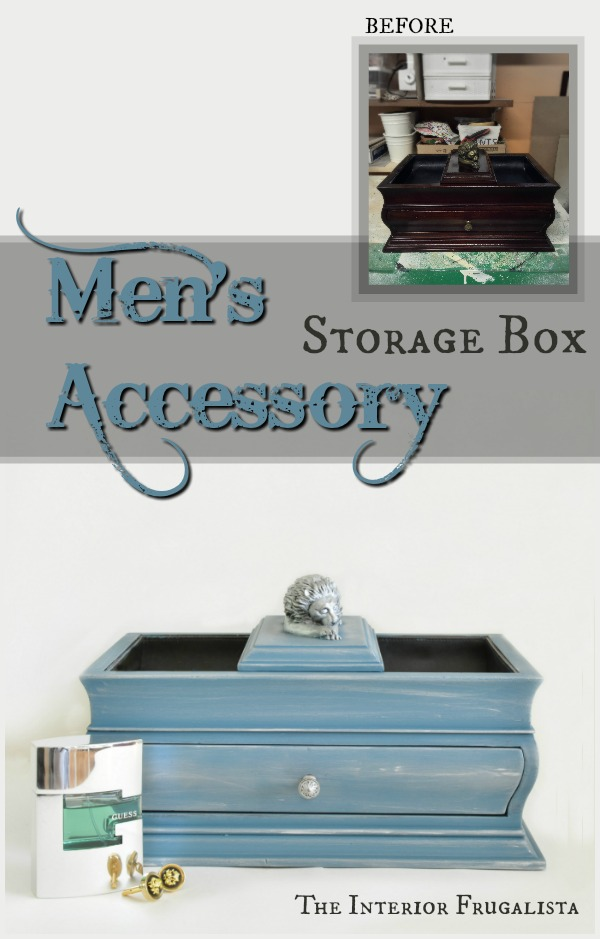 Mens Accessory Storage Box Before and After