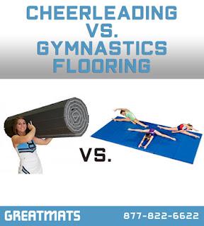 Greatmats Cheerleading vs Gymnastics Mats infographic
