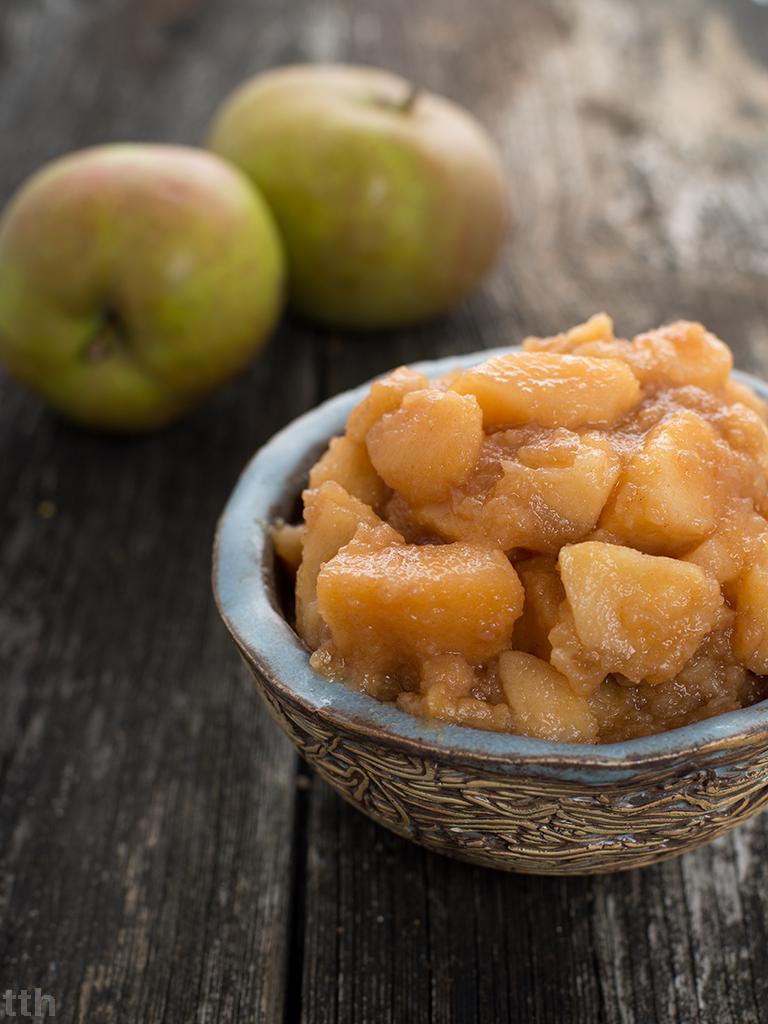jabłka prażone bez cukru na zimę