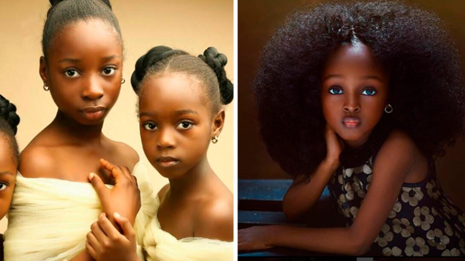 Consideran a niña nigeriana como la más guapa del mundo (FOTOS)