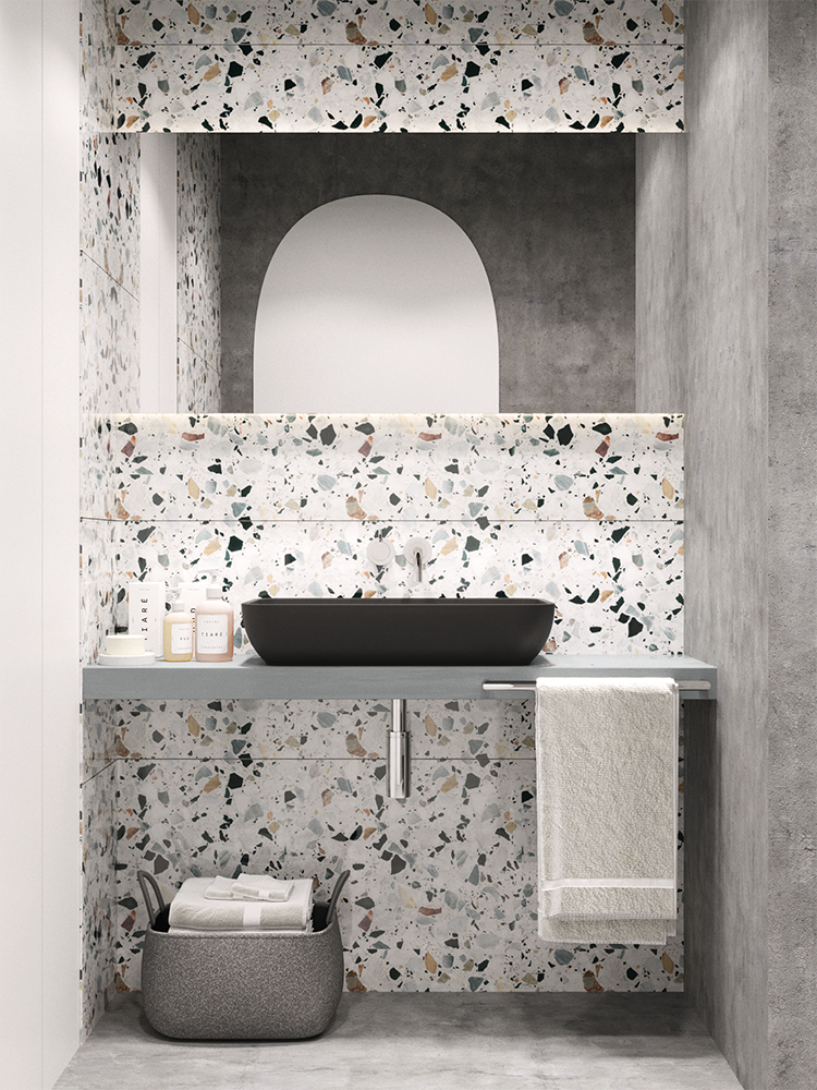 Impressive terrazzo and concrete bathroom design | My Paradissi