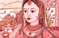 One day queen Durdhara shared the food with the king and she was pregnant at that time. Due to poison she died and Chanakya, with his Intelligence saved the child, and named him Bindusara.
