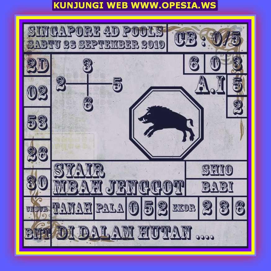 Syair sgp Sabtu 28 September 2019 38