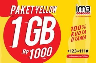 Cara Daftar dan Berhenti Paket Yellow Indosat Ooredo